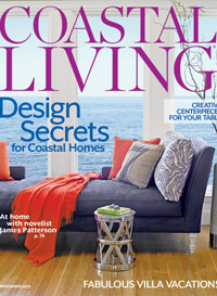 Coastal Living Nov. 2012 cover